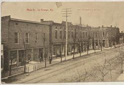 1908 La Grange Main Street Postcard