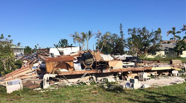 Destroyed mobile home in Goodland, FL