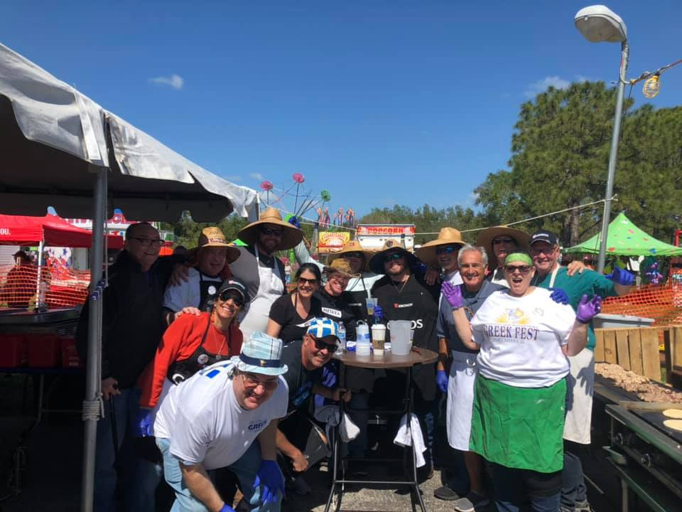 Happy chefs at Greek Fest 2020 - Fort Myers, Florida