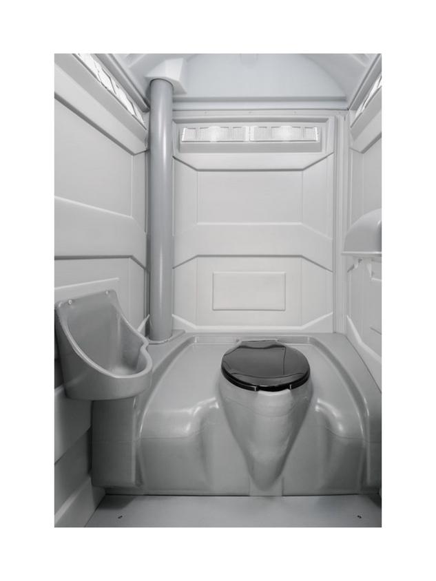 Construction site portable toilet