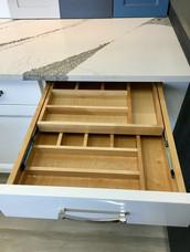 Maple 2-tier cutlery tray