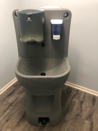 Lavatório portátil para lavagem de mãos ao ar livre