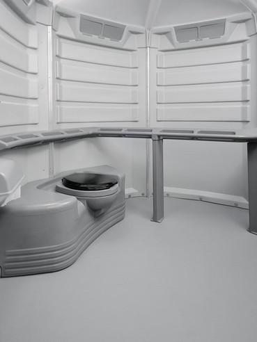 ADA handicap toilet interior view