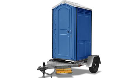 Trailer com banheiro portátil