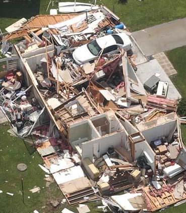 Destroyed home in Punta Gorda, FL