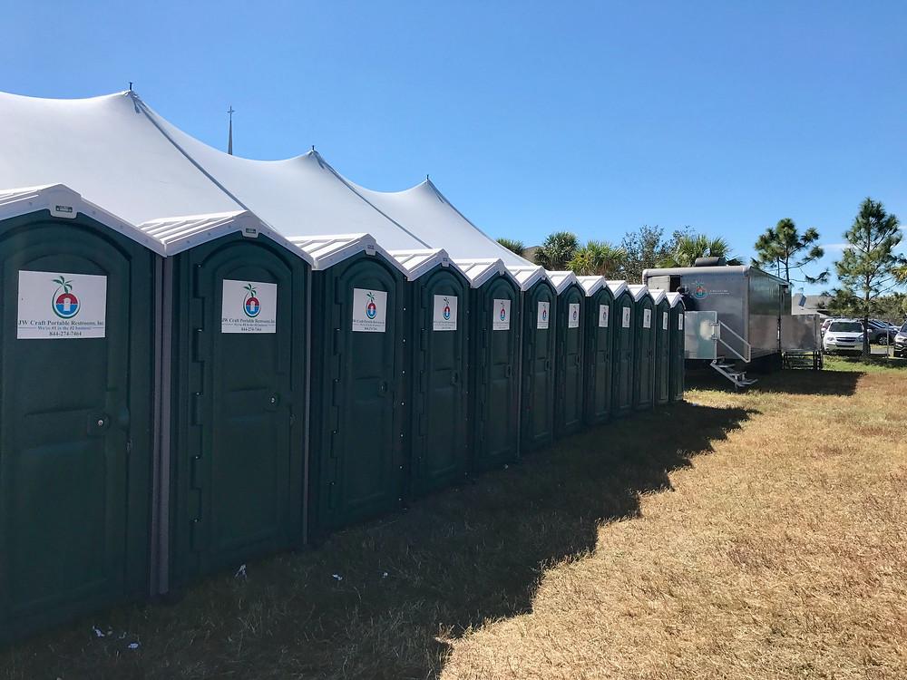 20 event restrooms at 2020 Greek Fest, Fort Myers, FL