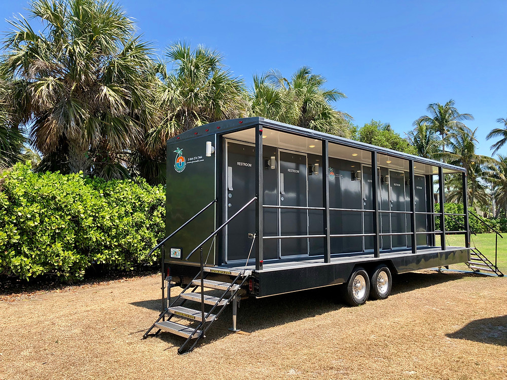 Veranda luxury restroom trailer at Seminole Immokalee Casino, Florida