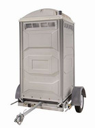 Trailer with portable toilet