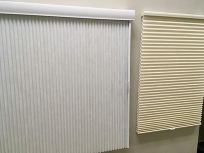 Semi-transparent Hunter Douglas blinds