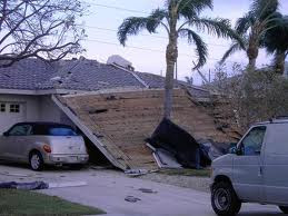 Collapsed lanai at Naples home