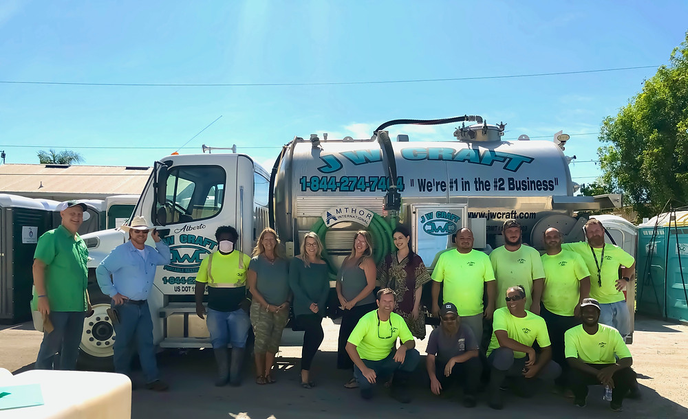 Porta potty rental company team members in Naples, FL - JW Craft