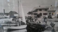 Utsikt mot havet fra Brygga.