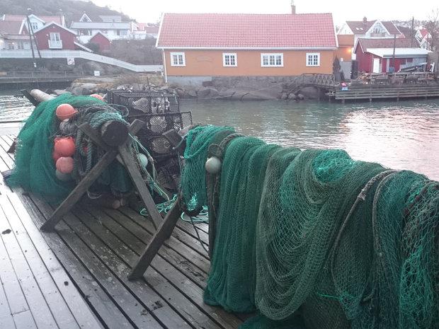 """Gamle Vadbodholmen Hermetikkfabrikk ute på Vadbodholmen, """"Rekefabrikken"""""""