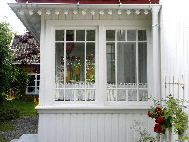 Glassveranda i sveitser og byggmesterstil