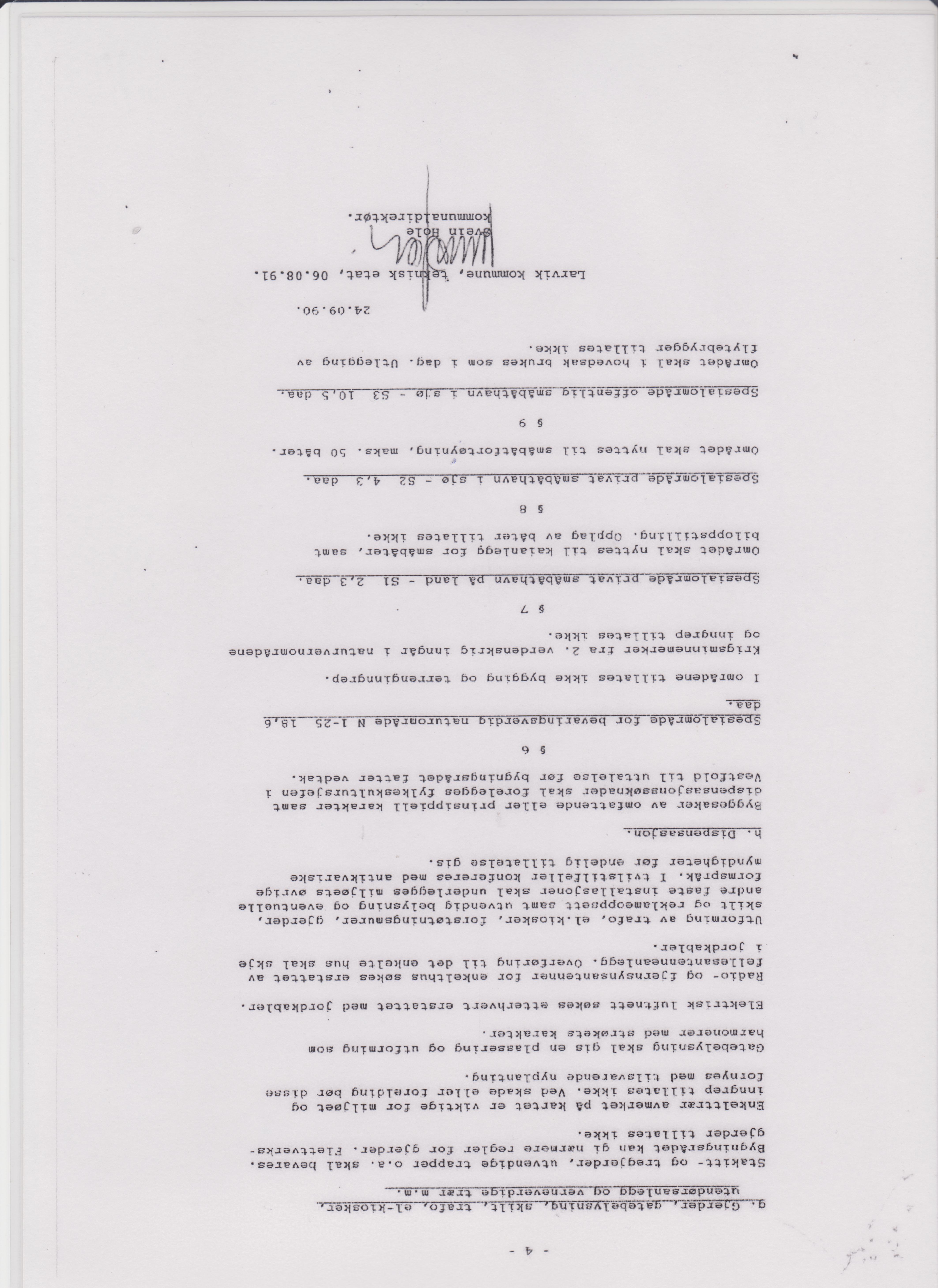 Bevaringsplanen fra 1991 - s.4 hele