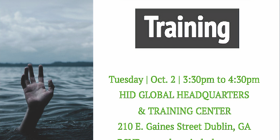 OCTOBER SUICIDE PREVENTION TRAINING