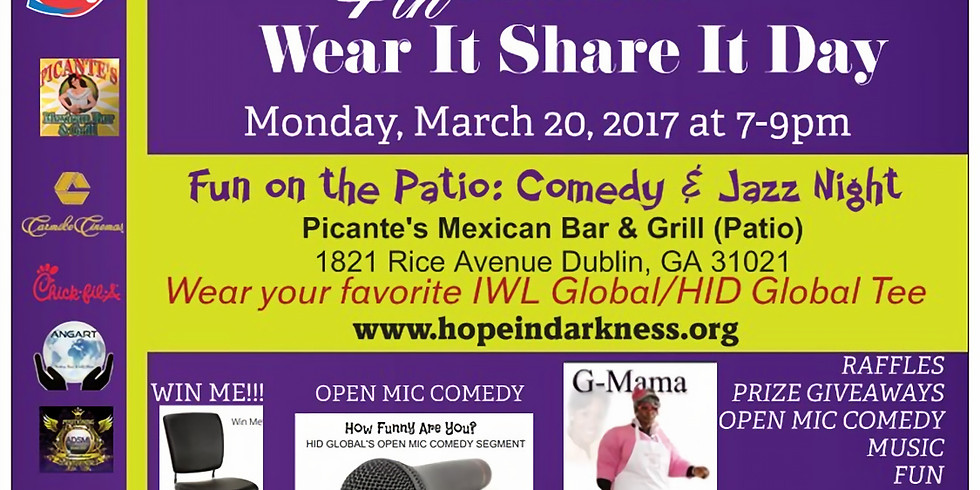 4th ANNUAL WEAR IT SHARE IT DAY: Fun on the Patio