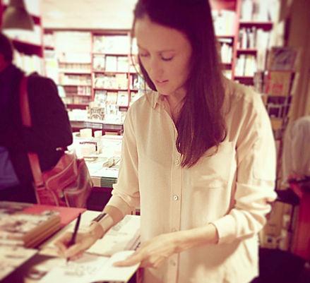 Aude Lechrist signature Un corps de femme l'écume des pages Paris