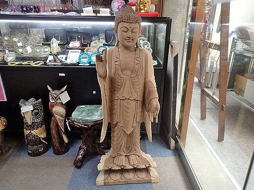 木彫りの仏像_如来立像