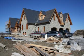 Stone Cladding on Lake Simcoe House looks fantastic!