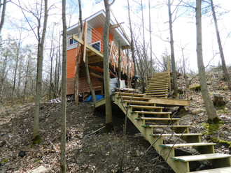 Chuckery Hill Bunky cladding and landscaping done