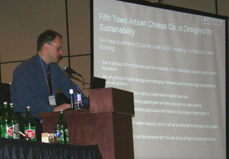 Francis speaks at Ontario Cheese Society Conference