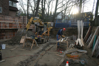 Ravine House construction begins