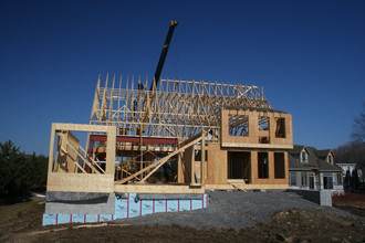 Skiff Cove Residence framework wrapping up
