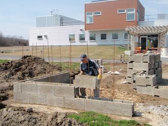 (Re)Source Pavilion Durisol wall rises!