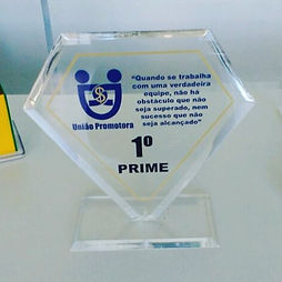 troféu em acrílico brasília