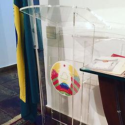 púlpito em acrílico brasília