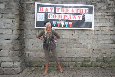 Janine Sarp Hay Theatre outside Hay Castle in Henry V