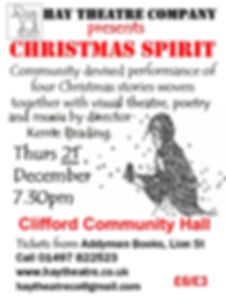 Hay Theatre Christmas Spirit show poster Dec 2017