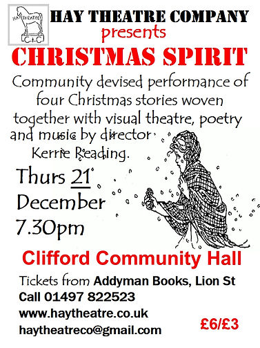 Hay Theatre Christmas Spirit show poster Dec 2017
