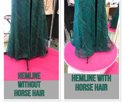 horse hair hemline alteration
