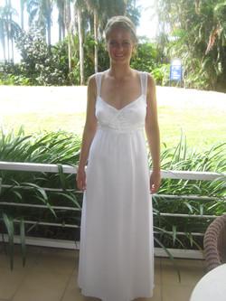 Rhianan white debutante