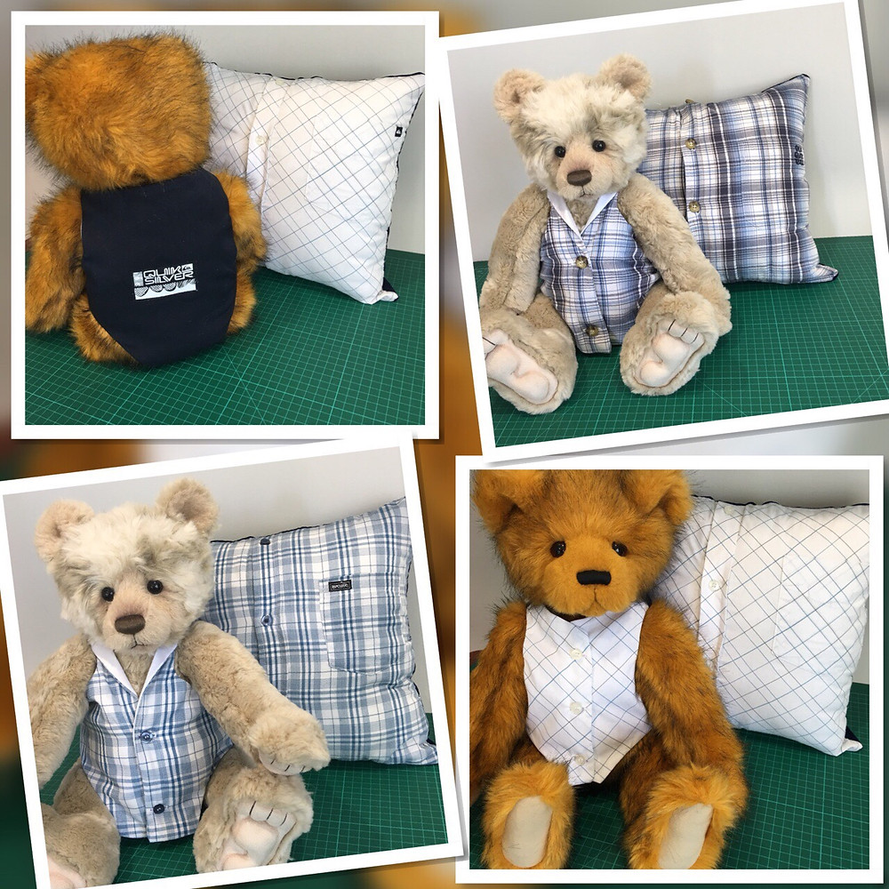 Memory Teddy Vests from loved ones shirts