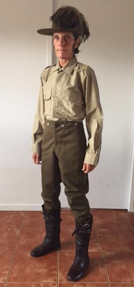 Light Horse uniform alteration at iSew4U Nambour