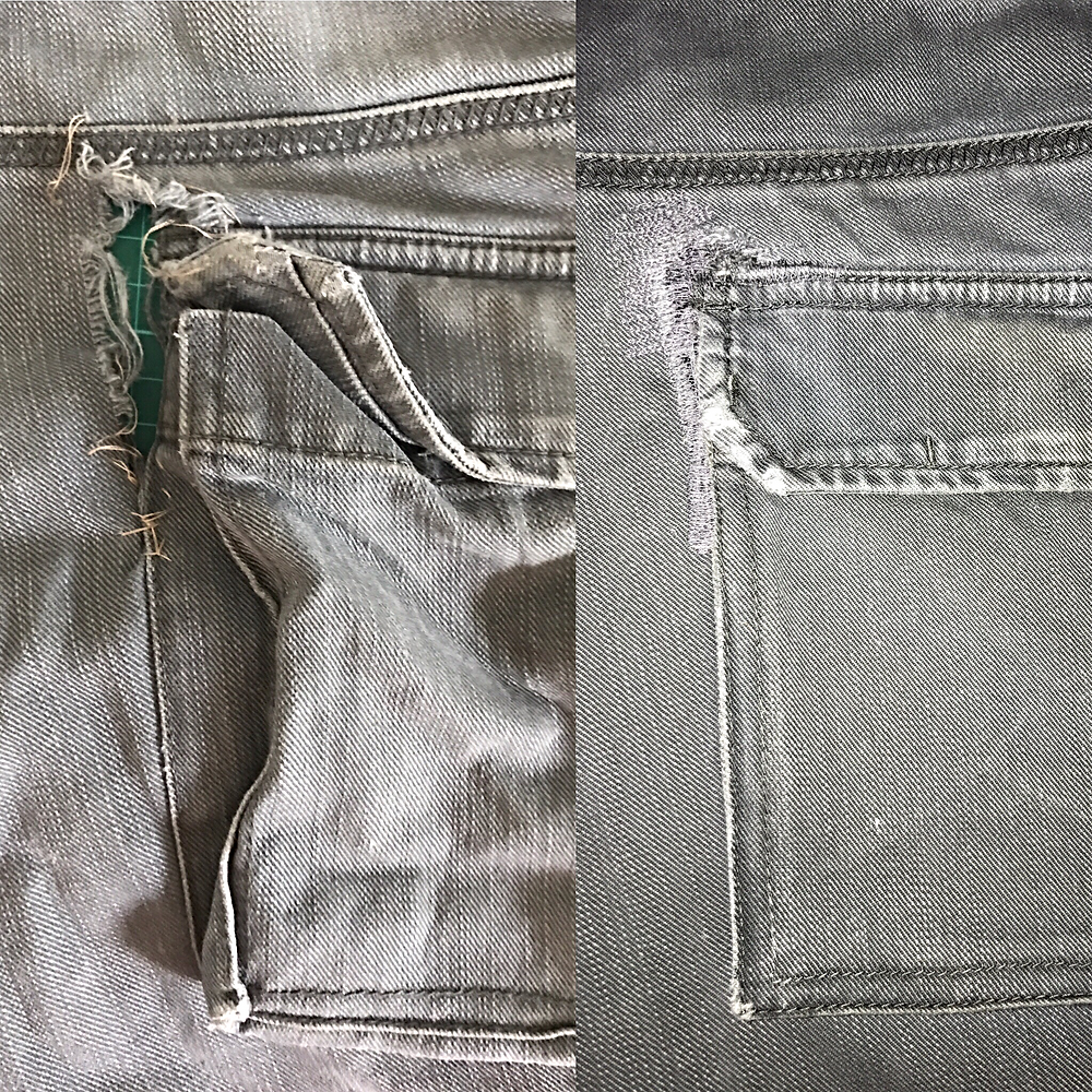repairing torn rippped clothing pants jeans iSew4U Nambour