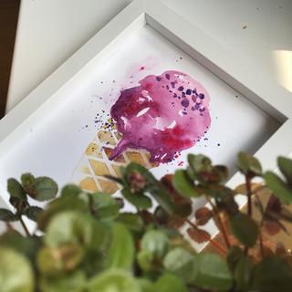 Zmrzlina akvarelem