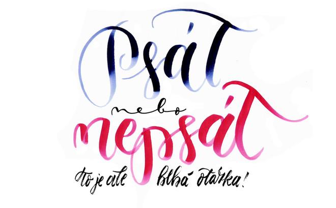 Typografie, písmomalířství a kaligrafie