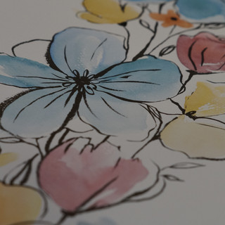 Akvarel ve spojení s kresbou perem