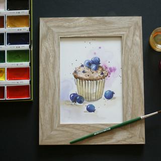 Muffin akvarelem
