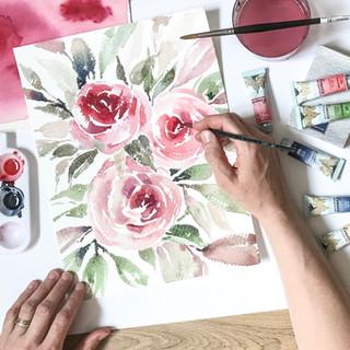 Květiny akvarelem Ostrava