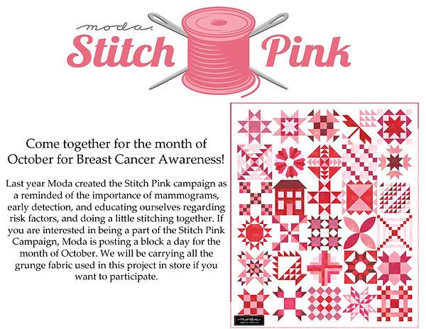 Moda Stitch Pink