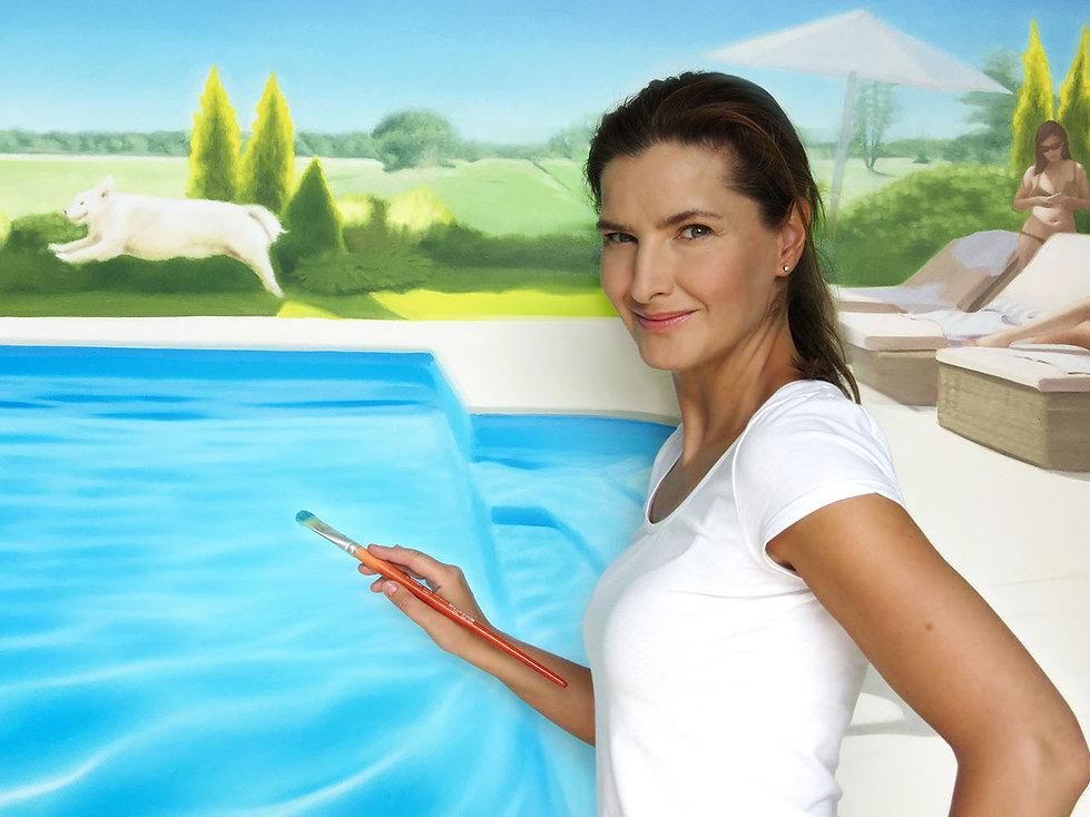 Kasia Domanska (Katarzyna Domańska) painter, malarka