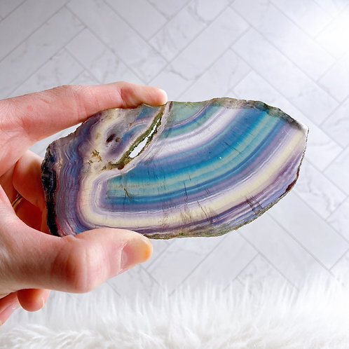Rainbow Fluorite Slab1A