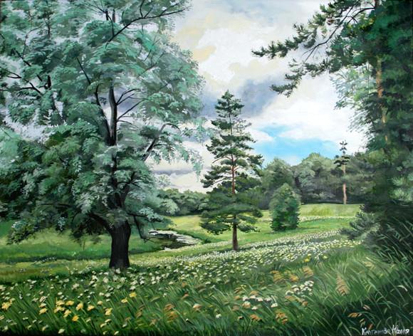 """Летний день"" холст масло 60х70 2009 год. Картина продана"