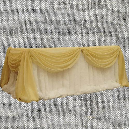 Оформление стола юбка + декор