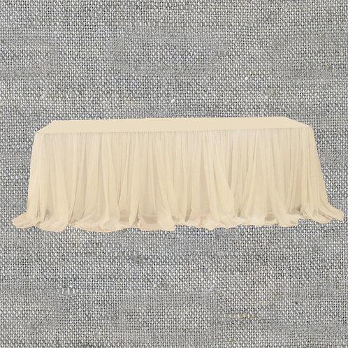 Юбка-декор на стол вуалевая 6x0,75 м